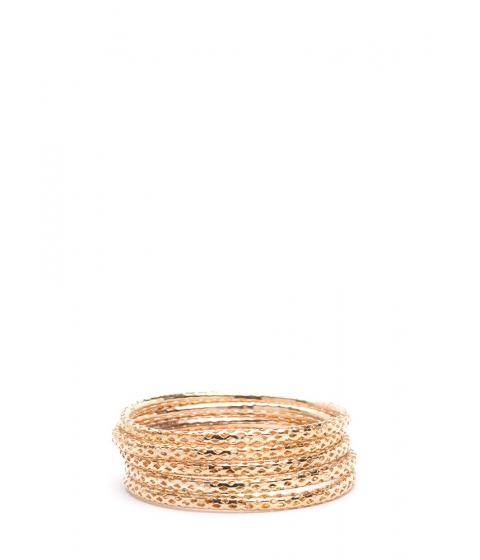 Bijuterii Femei CheapChic Stack To Business Perforated Bangle Set Gold