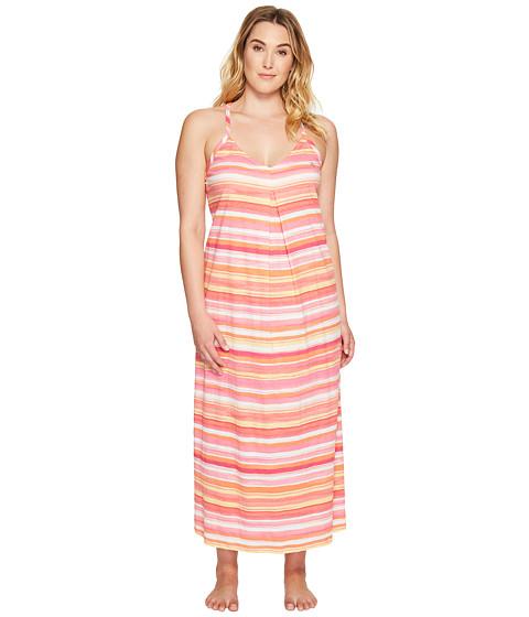 Imbracaminte Femei LAUREN Ralph Lauren Plus Size Striped Maxi Gown Coral Stripe