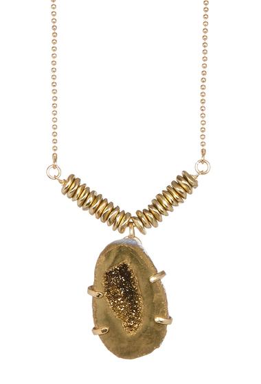 Bijuterii Femei Melrose and Market Geo Druzy Pendant Necklace GOLD-GOLD
