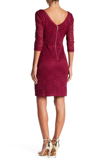 Imbracaminte Femei Eliza J Lace Sheath Dress BERRY