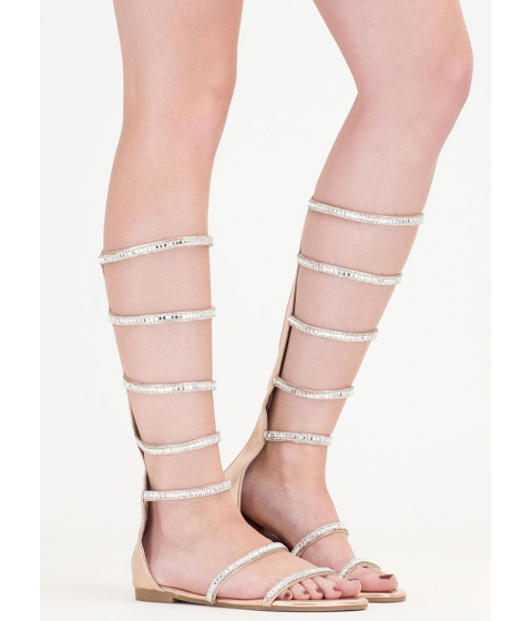 Incaltaminte Femei CheapChic Bling Battle Metallic Gladiator Sandals Rosegold