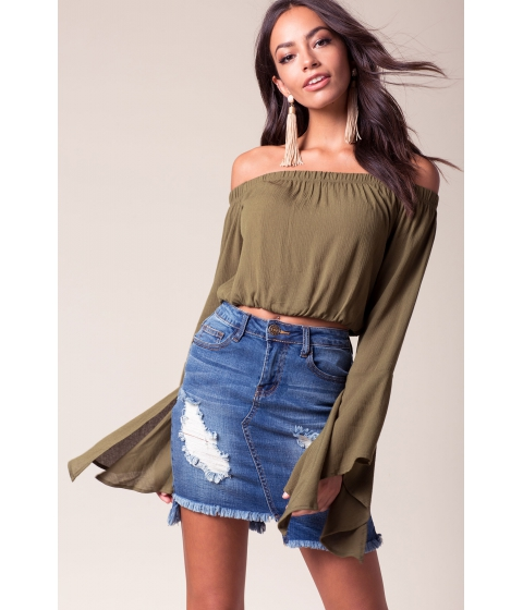 Imbracaminte Femei CheapChic Drift Away Off Shoulder Top Olive