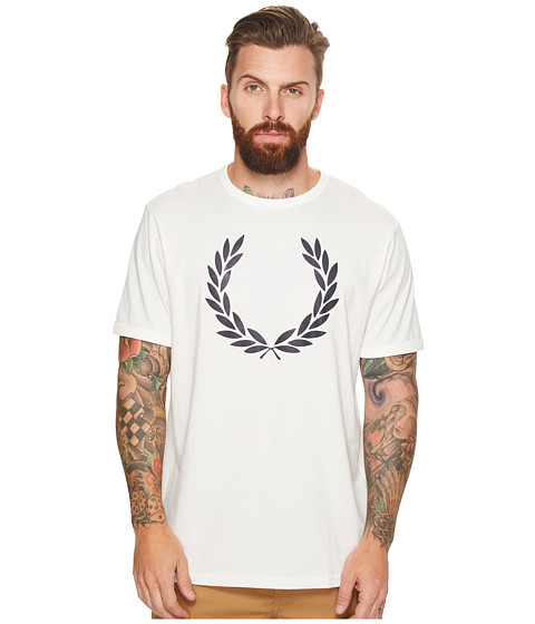 Imbracaminte Barbati Fred Perry Laurel Wreath Ringer T-Shirt Snow White