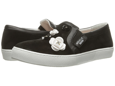 Incaltaminte Femei Boutique Moschino Embellished Floral Skater Shoe Black