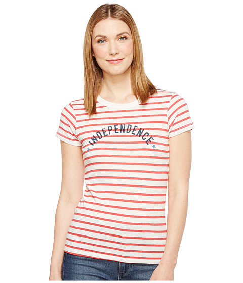Imbracaminte Femei Alternative Apparel Eco Jersey Yarn-Dye Stripe Ideal Tee Red Riviera Stripe Independence