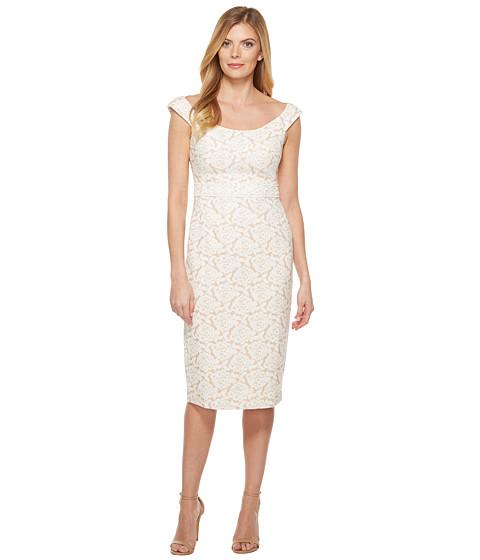 Imbracaminte Femei Maggy London Natural Bloom Jacquard Sheath Dress Natural