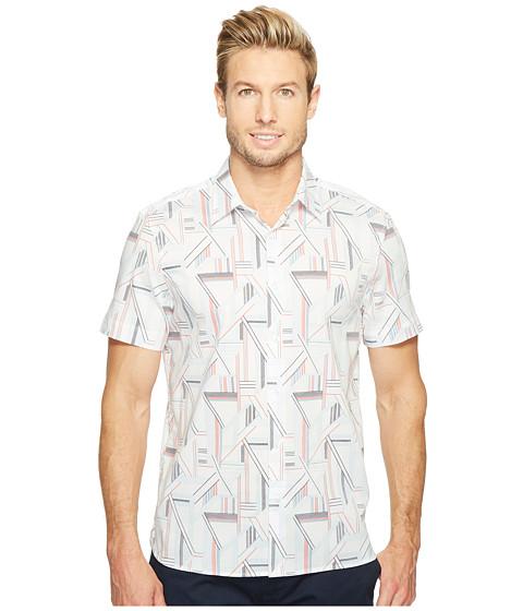 Imbracaminte Barbati Perry Ellis Short Sleeve Linear Shirt Bright White