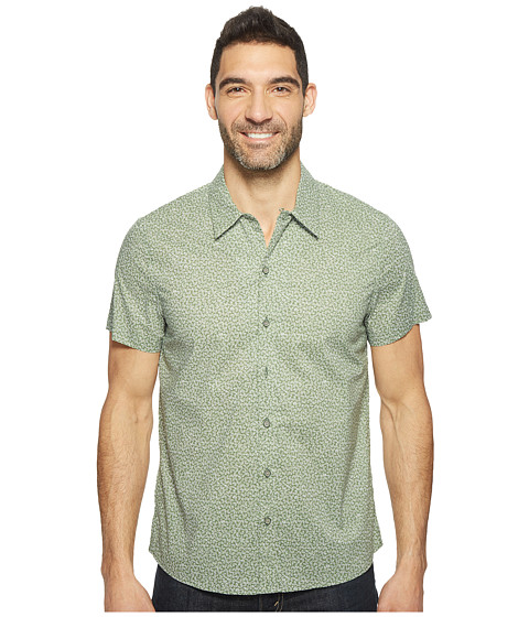 Imbracaminte Barbati Kenneth Cole Short Sleeve Abstract Camp Shirt Highline Green Combo