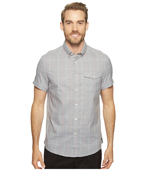 Imbracaminte Barbati Kenneth Cole Short Sleeve Grindle Check Shirt Heather Grey Combo