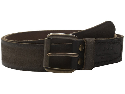 Accesorii Barbati John Varvatos 40mm Waxed Suede Belt with Harness Buckle Black
