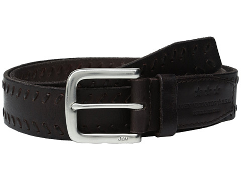 Accesorii Barbati John Varvatos Laced Strap Belt with Harness Buckle Chocolate