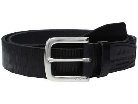 Accesorii Barbati John Varvatos Laser Scored Strap Belt with Harness Buckle Black
