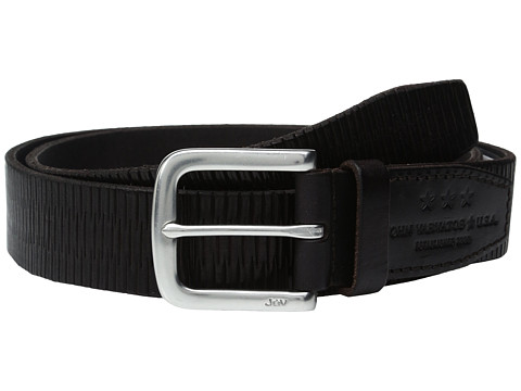 Accesorii Barbati John Varvatos Laser Scored Strap Belt with Harness Buckle Chocolate