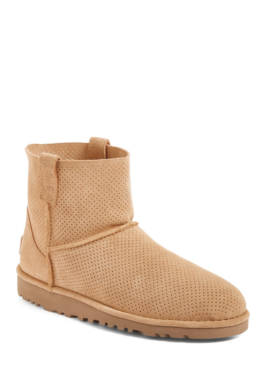 Incaltaminte Femei UGG Classic Unlined Mini Perforated Leather Boot TAW