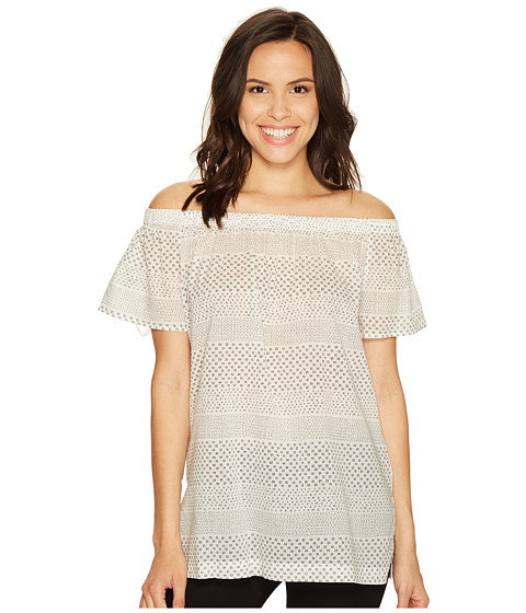 Imbracaminte Femei Vince Camuto Off the Shoulder Delicate Etching Side Slit Tunic New Ivory