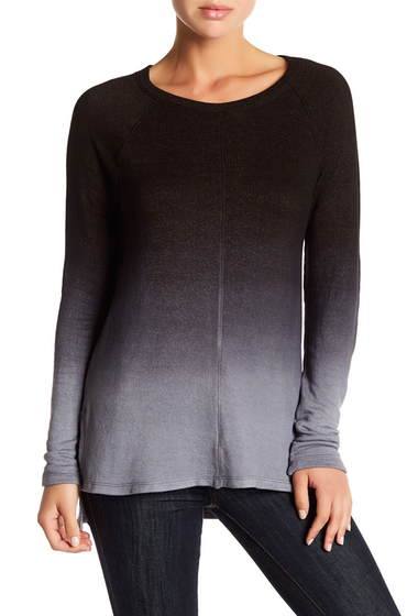 Imbracaminte Femei Michael Stars Ombre Elbow Patch Sweater STEEL OMBRE
