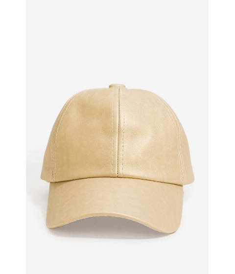 Accesorii Femei CheapChic Metallic Gold Faux Leather Cap Met Gold