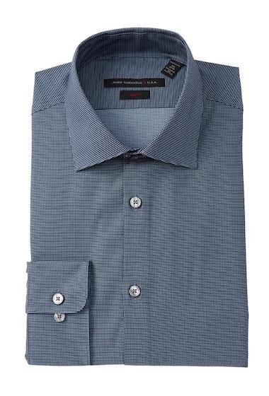 Imbracaminte Barbati John Varvatos Patterned Slim Fit Dress Shirt WATER BLUE
