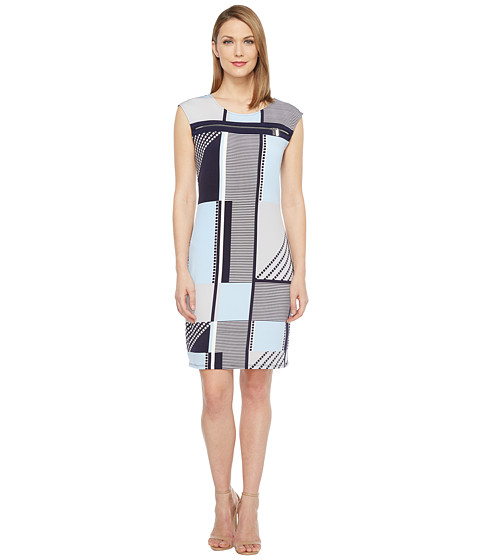 Imbracaminte Femei Calvin Klein All Over Print Zipper Dress Twilight Multi