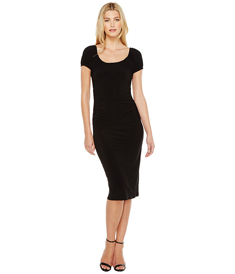Imbracaminte Femei KAMALIKULTURE Sophia Shirred Waist Dress Black