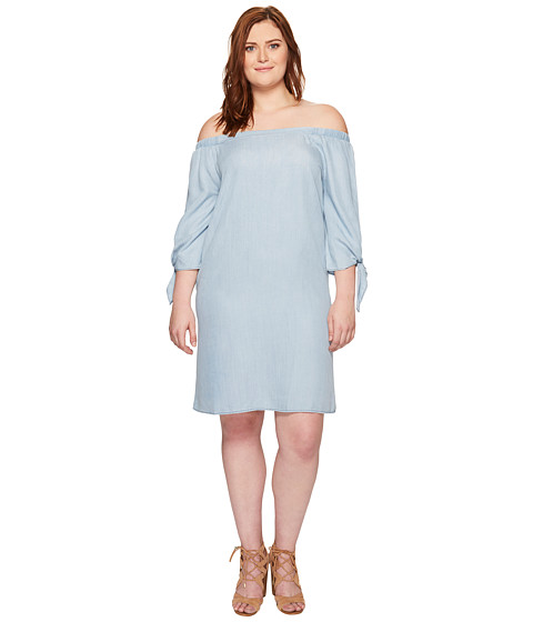 Imbracaminte Femei Bobeau Plus Size Lyocell Off Shoulder Dress Chambray
