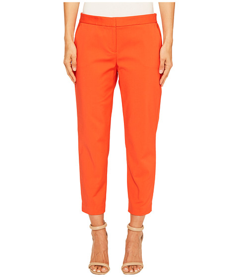 Imbracaminte Femei Vince Camuto Front Zip Crop Pants Red Hot