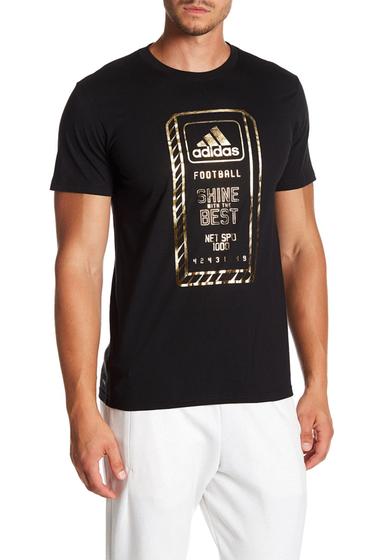 Imbracaminte Barbati adidas Time to Shine Foil Print Tee BLACK-GOLDMT