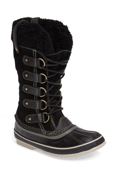 Incaltaminte Femei SOREL Joan of Arctic Genuine Shearling Waterproof Boot BLACK-STONE