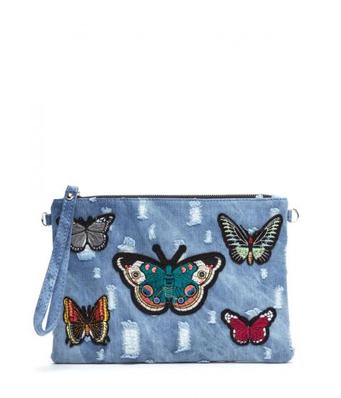 Accesorii Femei CheapChic Butterfly Effect Distressed Denim Clutch Blue