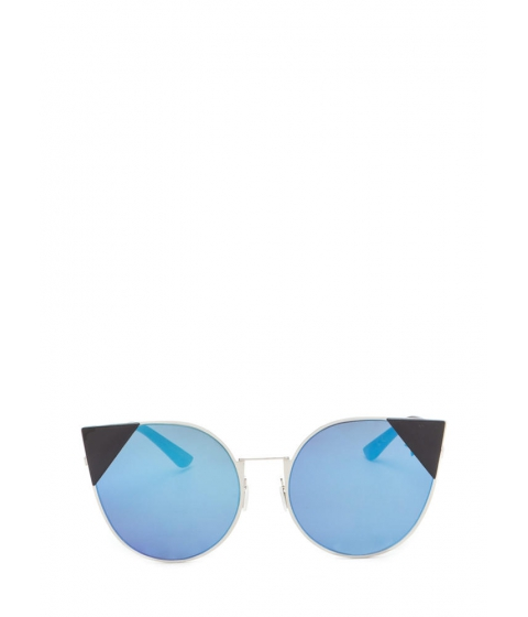 Accesorii Femei CheapChic Feline Cute Tipped Rounded Sunglasses Blue