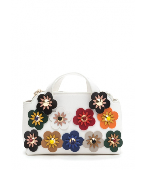 Accesorii Femei CheapChic Retro Delight Floral Mini Bag White