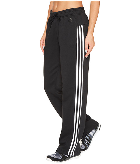 Imbracaminte Femei adidas Essentials Cotton Fleece 3S Open Hem Pants BlackWhite
