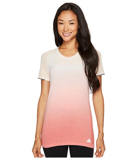 Imbracaminte Femei adidas Primeknit Wool Short Sleeve Dip-Dye Tee LinenEasy Coral