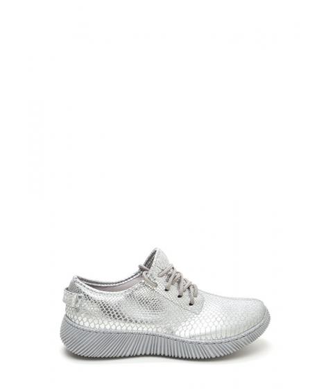 Incaltaminte Femei CheapChic Casual Luxury Shiny Snakeskin Sneakers Silver