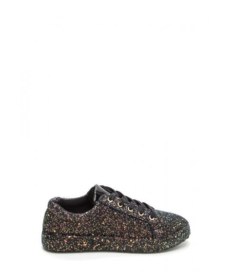 Incaltaminte Femei CheapChic Sparkler Status Glitter Lace-up Sneakers Black