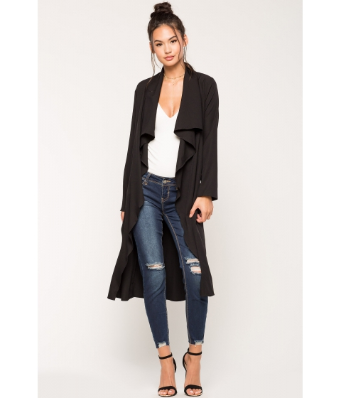 Imbracaminte Femei CheapChic Alexa Belted Trench Coat Black