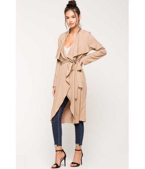 Imbracaminte Femei CheapChic Alexa Belted Trench Coat TaupeKhaki