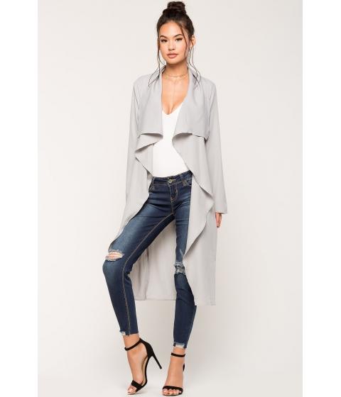 Imbracaminte Femei CheapChic Alexa Belted Trench Coat Gray