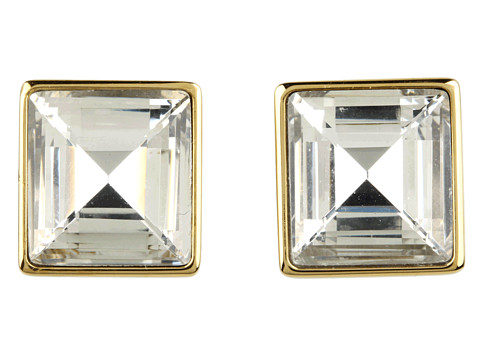 Bijuterii Femei Marc Jacobs Cocktail Party Crystal Square Stud Earrings Gold