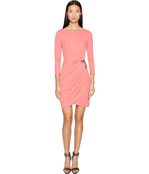 Imbracaminte Femei Just Cavalli Long Sleeve Jersey Star Dress Pop Pink