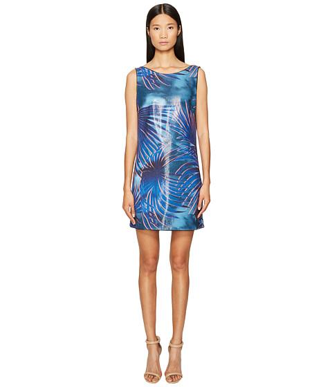 Imbracaminte Femei Just Cavalli Tie-Dye Palm Print Sleeveless Dress Blue Variant
