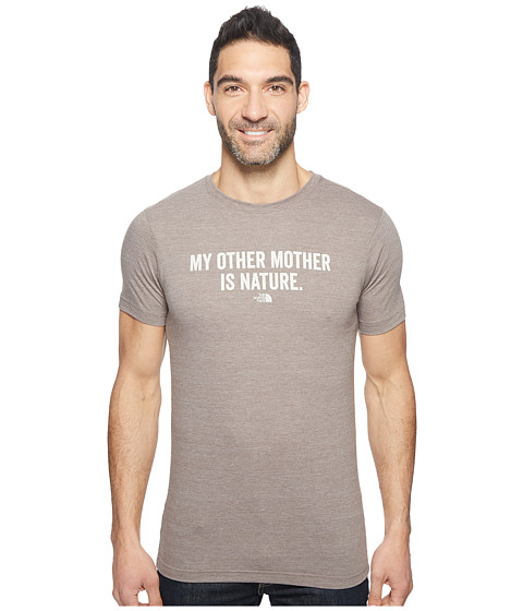 Imbracaminte Barbati The North Face Short Sleeve Mother Nature Tri-Blend Tee Falcon Brown Heather (Prior Season)