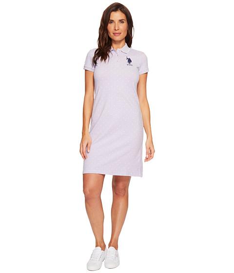 Imbracaminte Femei US Polo Assn Stretch Pique Printed Polo Dress Faded Wisteria