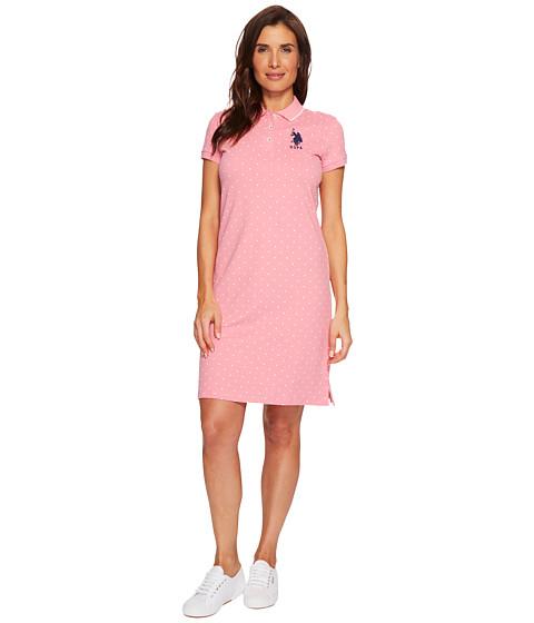 Imbracaminte Femei US Polo Assn Stretch Pique Printed Polo Dress Rose Fruit