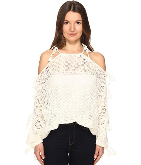 Imbracaminte Femei See by Chloe Lace Ties Sweater Cloud Dancer