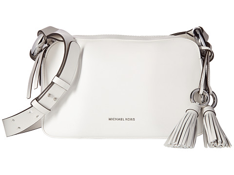 Genti Femei Michael Kors Grand Medium Shoulder Optic White