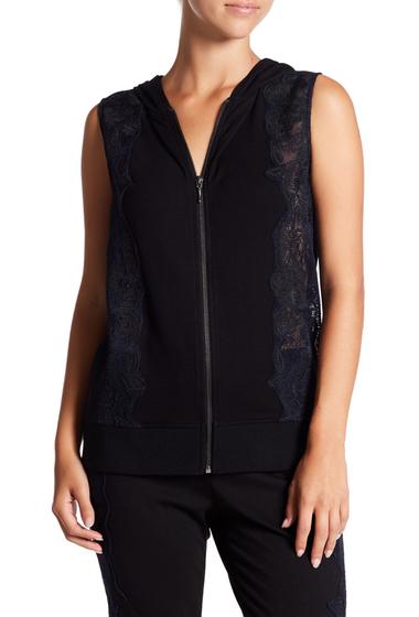 Imbracaminte Femei T Tahari Elisa Sleeveless Embroidered Hoodie BLACK