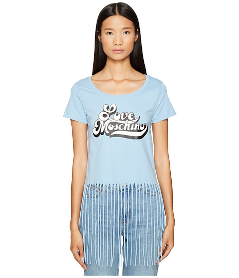 Imbracaminte Femei LOVE Moschino LOVE Fringe Crop Top Blue