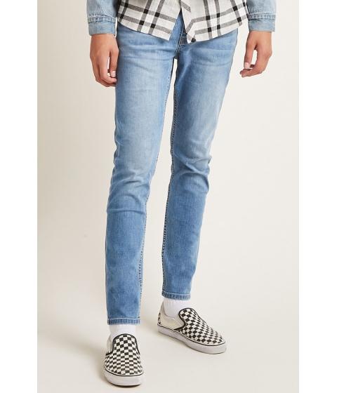 Imbracaminte Barbati Forever21 Clean Wash Slim-Fit Jeans MEDIUM DENIM
