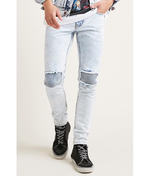 Imbracaminte Barbati Forever21 Acid Wash Skinny Jeans LIGHT DENIM